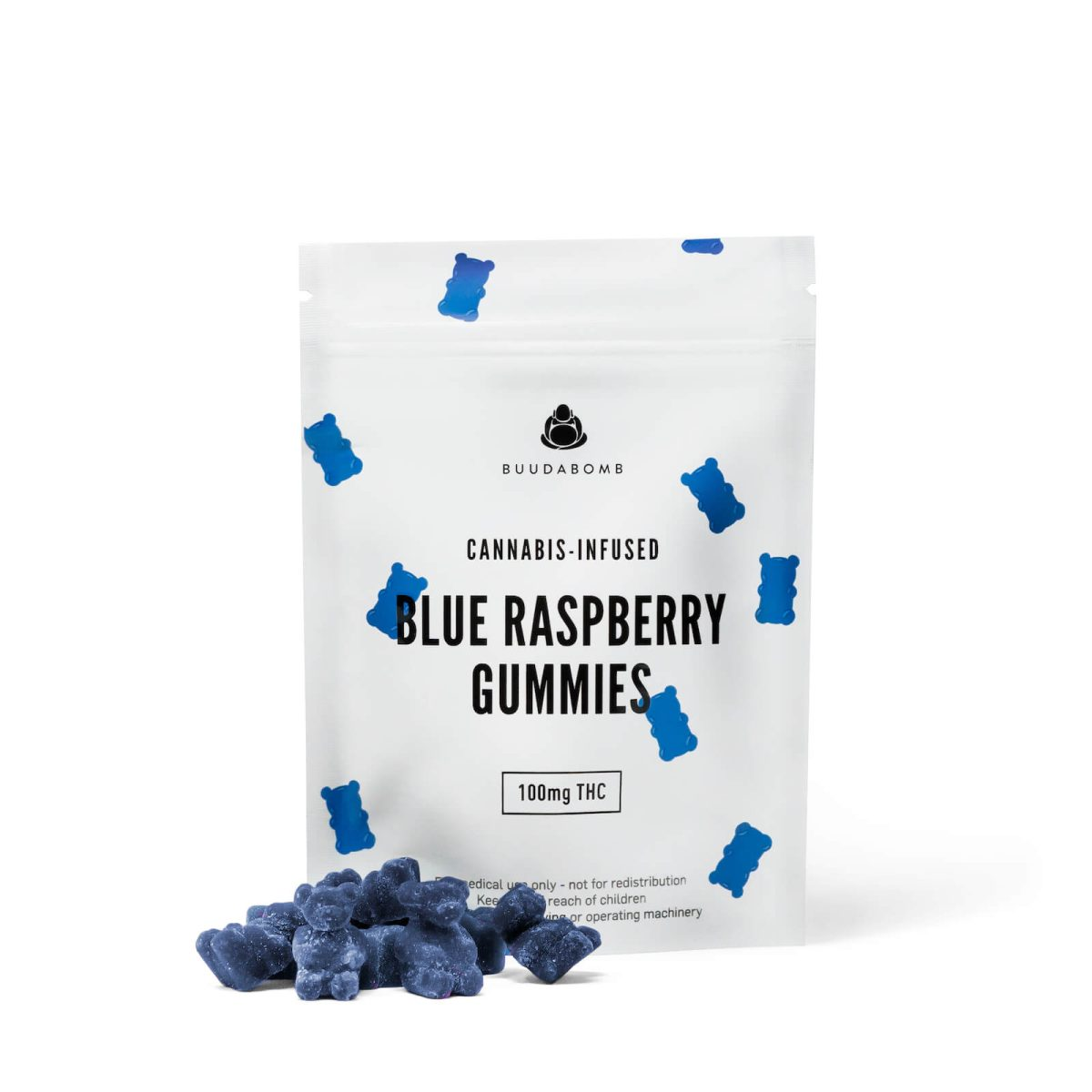frosted blueraspberry gummy bears wccannabis
