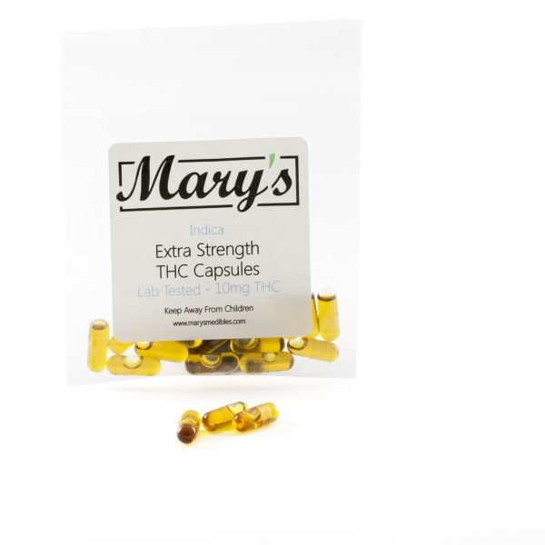 Marys Edibles Indica THC Capsules 10MG
