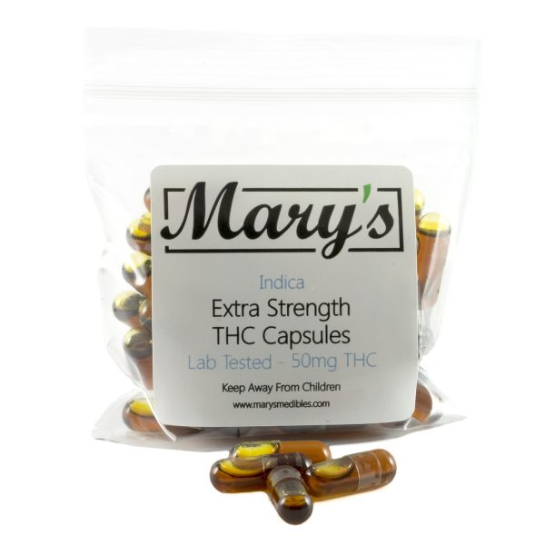 Marys Edibles Indica THC Capsules 50MG