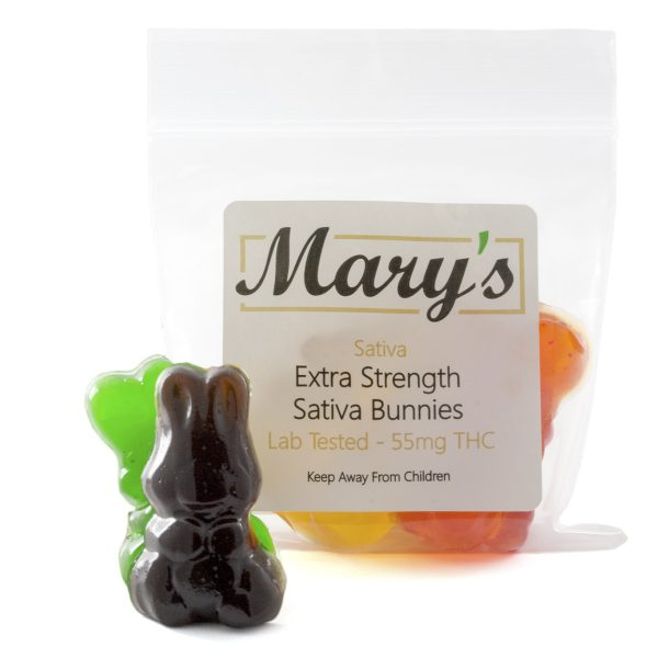 Marys Edibles Sativa Gummies Extra Strength 55MG