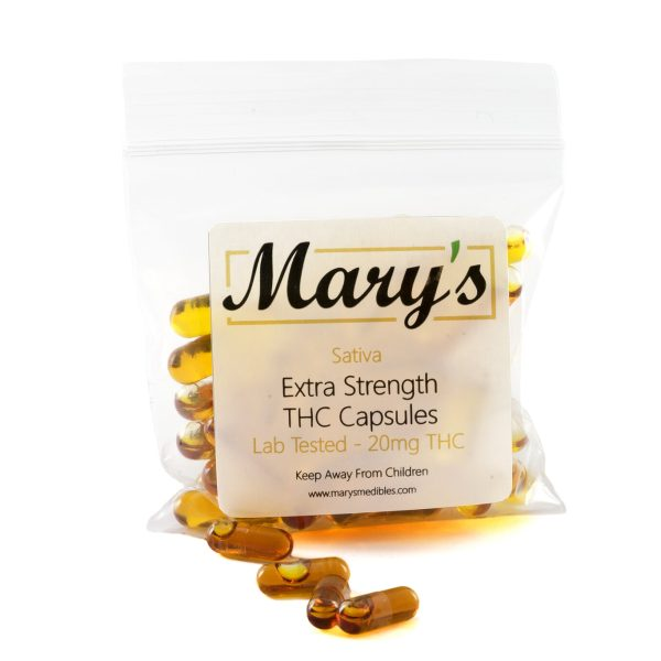 Marys Edibles Sativa THC Capsules 20MG