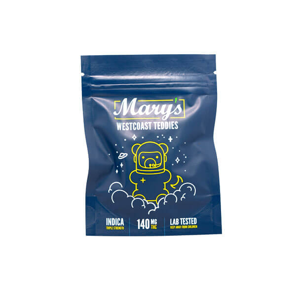 Marys Edibles West Coast Teddies Triple Strength Indica