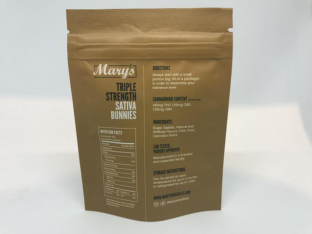 Marys Medibles Sativa Bunnies Sativa Triple Strength 140MG 2