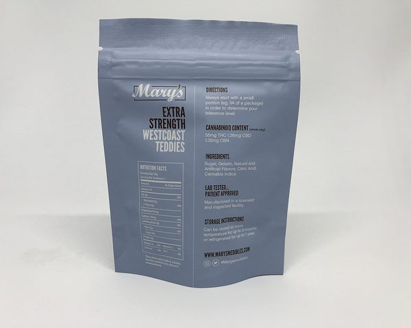 Marys Medibles Westcoast Teddies Indica Extra Strength 55MG 2