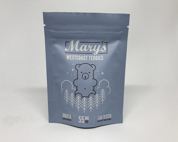 Marys Medibles Westcoast Teddies Indica Extra Strength 55MG