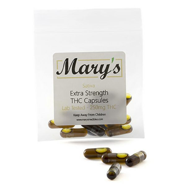 Marys THC Capsules Sativa 250MG
