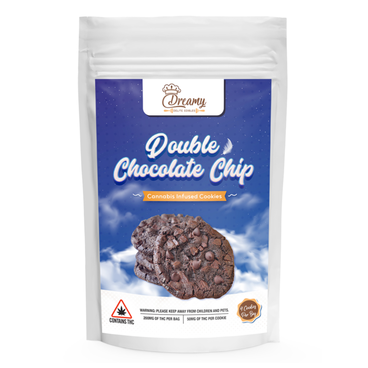 DD Double Chocolate Chip Canna Cookies