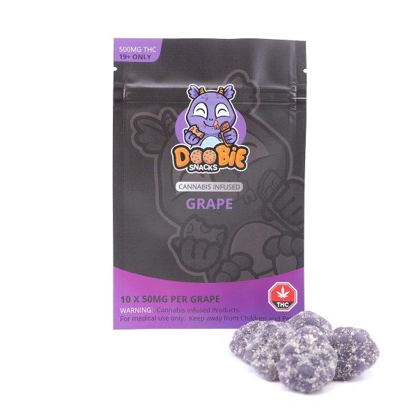 Grape 500MG THC Gummy By Doobie Snacks
