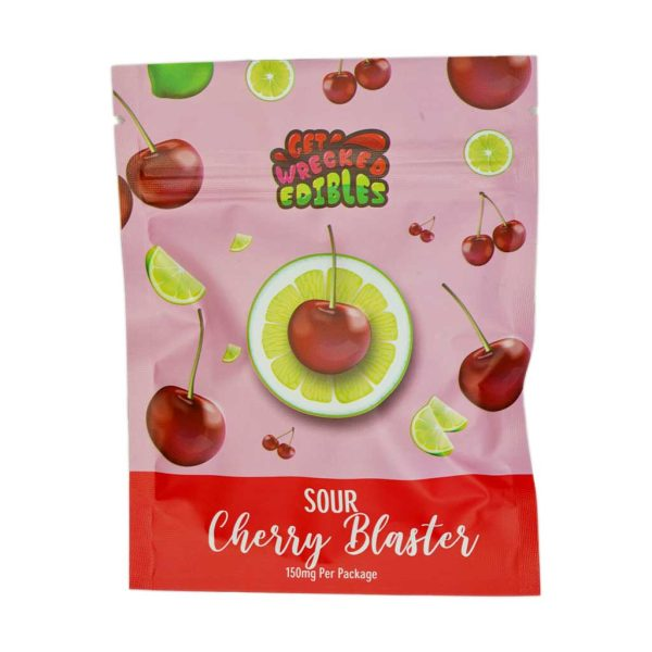Buy Get Wrecked Edibles - Sour Cherry Blaster 150mg THC at MMJ Express Online Shop