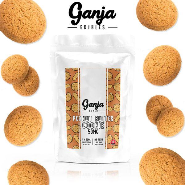 BuyGanja Edibles - Peanut Butter Cookie 1x 50mg at MMJ Express Online Shop