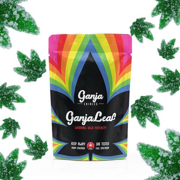 Buy Ganja Edibles - Ganja Leaf Sour Green Apple 750mg THC at MMJ Express Online Shop