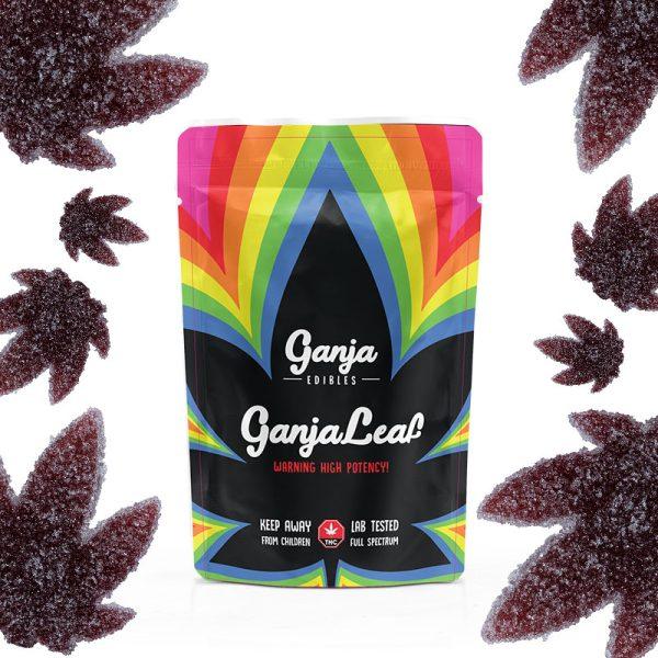 Buy Ganja Edibles - Ganja Leaf Sour Black Cherry 1000mg THC at MMJ Express Online Shop