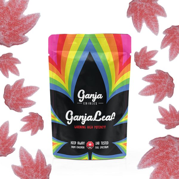 Buy Ganja Edibles - Ganja Leaf Sour Watermelon 500mg THC at MMJ Express Online Shop