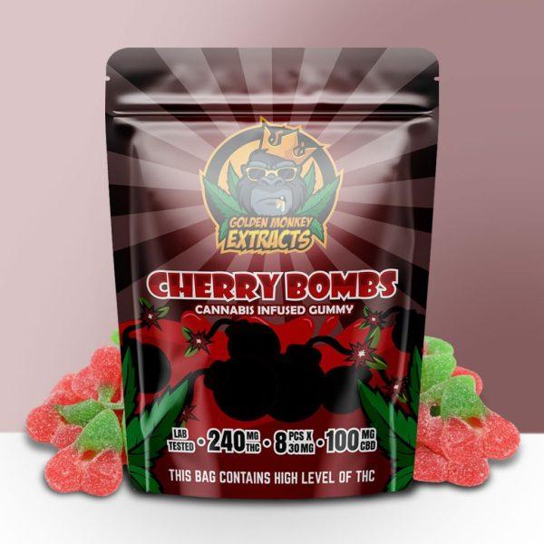 Buy Golden Monkey Extracts - Cherry Bombs Gummy 240mg THC : 100mg CBD at MMJ Express Online Shop