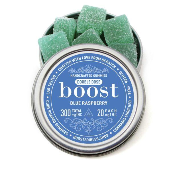Buy Boost Edibles - THC Gummies - Blue Raspberry - 300mg at MMJExpress Online Dispensary