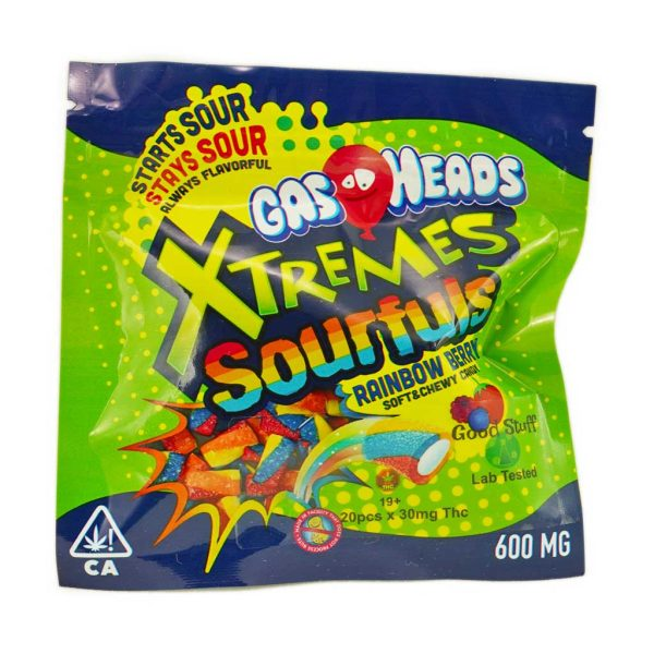 Buy Gas Heads Xtreme Bites Sourful Rainbow Berry 600MG THC at MMJ Express Online Shop