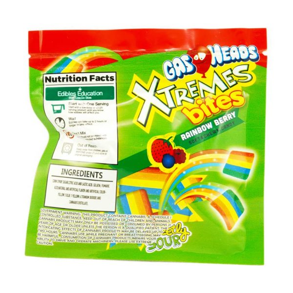 Buy Gas Heads Xtreme Bites Rainbow Berry 600MG THC at MMJ Express Online Shop