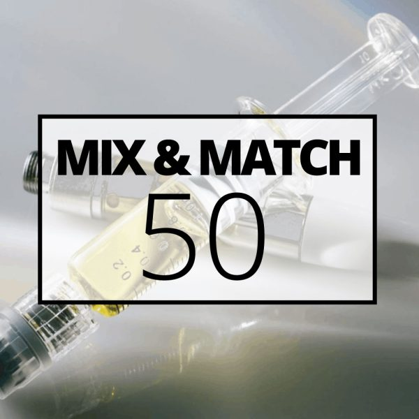 mmj syringes mix and match 50
